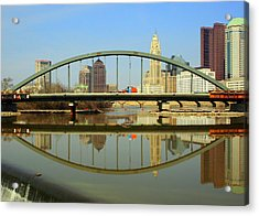City Reflections Through A Bridge Acrylic Print