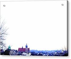 City Snowscape Acrylic Print by Lee Versluis
