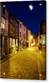City Street At Night, Staithes Acrylic Print by John Short