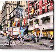 City Street Scene Acrylic Print by Anthony Caruso