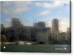 City View Through Window 3 Acrylic Print by Catherine Lau