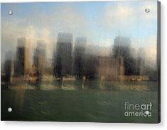 City View Through Window Acrylic Print by Catherine Lau