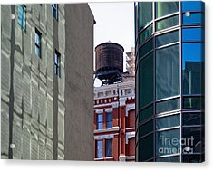 City Water Tower Acrylic Print by Inti St. Clair
