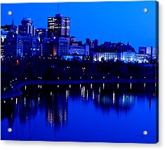 Cityscape Acrylic Print by Andre Faubert