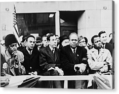 Civil Rights Leaders In Nyc. L To R Acrylic Print by Everett