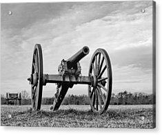 Civil War Canon - Manassas Battlefield - Virginia Acrylic Print by Brendan Reals