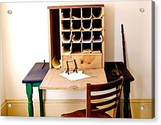 Civil War Desk Acrylic Print by Trish Tritz