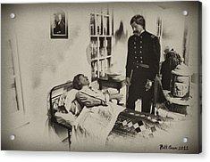 Civil War Hospital Acrylic Print by Bill Cannon