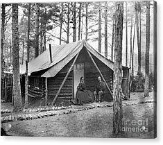 Civil War: Log Cabin, 1864 Acrylic Print by Granger
