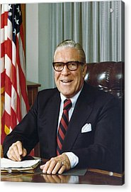 Clarence Kelley As Director Of The Fbi Acrylic Print by Everett