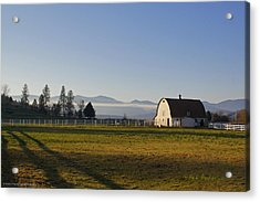 Classic Barn In The Country Acrylic Print by Mick Anderson