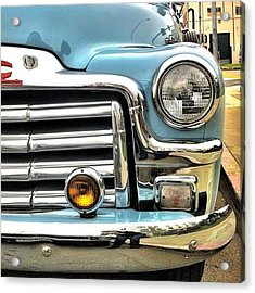 Classic Car Headlamp Acrylic Print by Julie Gebhardt