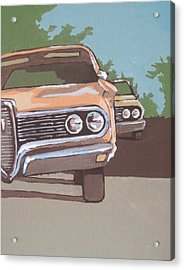 Classic Cars Acrylic Print by Sandy Tracey