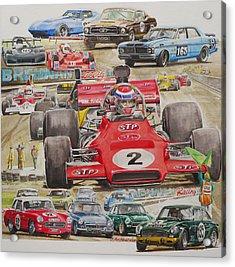 classic Racing 07 Acrylic Print by John  Archbold