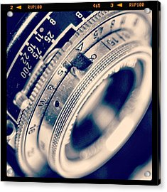 #classic #vintage #retro #lense #camera Acrylic Print by Ritchie Garrod