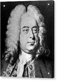 Classical Composer George Frideric Acrylic Print by Everett
