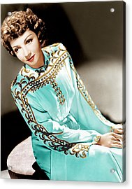Claudette Colbert, Ca. 1940s Acrylic Print by Everett