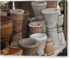 Clay Pots Acrylic Print by Teresa Mucha