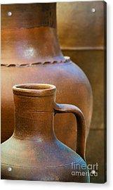 Clay Pottery Acrylic Print by Carlos Caetano
