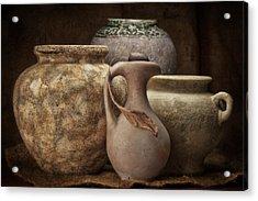 Clay Pottery I Acrylic Print by Tom Mc Nemar