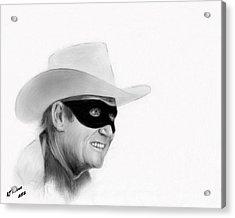 Clayton Moore Acrylic Print by Arne Hansen