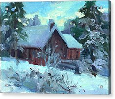 Cle Elum Cabin Acrylic Print by Diane McClary