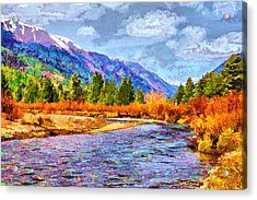 Acrylic Print featuring the digital art Clear Creek Vista by Brian Davis