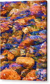 Acrylic Print featuring the digital art Clear Creek Waters by Brian Davis