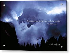 Clearing Storm Half Dome Acrylic Print