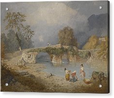 Clearing Up For Fine Weather Beddgelert North Wales 1867 Acrylic Print by James Baker Pyne