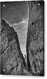 Cleft Of The Rock II Acrylic Print by David Waldrop
