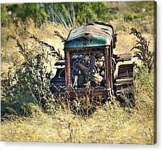 Cletrac Tractor Acrylic Print by William Havle