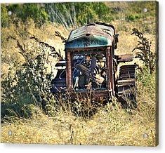 Cletrac Tractor Acrylic Print