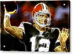 Cleveland Browns Colt Mccoy Acrylic Print by Paul Van Scott