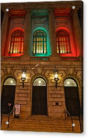 Cleveland Courthouse Acrylic Print by Frozen in Time Fine Art Photography