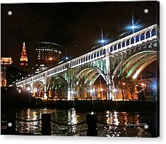 Cleveland Reflection Acrylic Print by Rotaunja