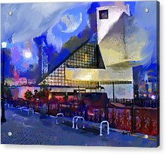 Cleveland Rocks Acrylic Print by Anthony Caruso