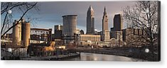 Cleveland Skyline From The Industrial Valley Acrylic Print by At Lands End Photography