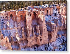Cliff Condos Acrylic Print by Bob and Nancy Kendrick