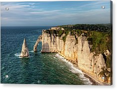 Cliff needle In Etretat, France Acrylic Print by Rogdy Espinoza Photography
