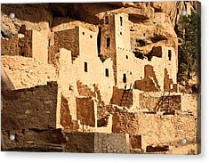 Cliff Palace Acrylic Print by Adam Pender