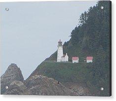 Cliff Side Light House Acrylic Print