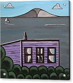 Cliff Top Acrylic Print by Sandra Marie Adams