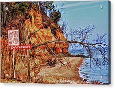Acrylic Print featuring the photograph Cliffs by Kelly Reber