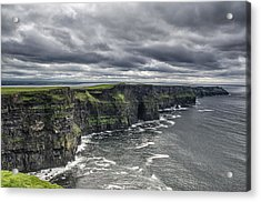 Cliffs Of Moher Acrylic Print by John Mee