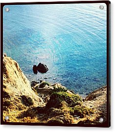 Climb Down To Secret Beach (not So Acrylic Print