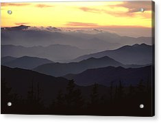 Clingmans Dome Is The Highest Point Acrylic Print by James P. Blair