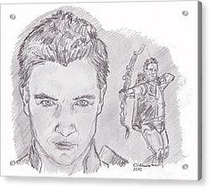 Clint Barton- Hawkeye Acrylic Print by Chris  DelVecchio