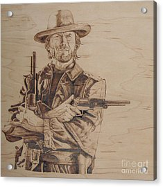 Clint Eastwood Acrylic Print by Chris Wulff