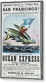 Clipper Ship Card, C1850 Acrylic Print by Granger